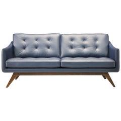 Alvar Sofa in Navy Blue by Luca Scacchetti