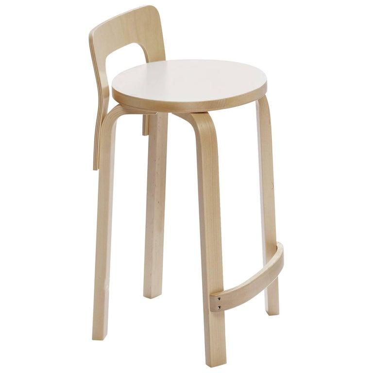 Authentic High Chair K65 in Birch with Laminate Seat by Alvar Aalto & Artek