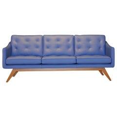 Alvar Sofa in Bright Blue by Luca Scacchetti