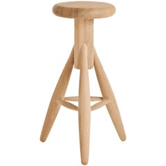 Authentic Rocket Bar Stool in Oak by Eero Aarino & Artek