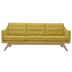Alvar Sofa in Mustard Yellow by Luca Scacchetti