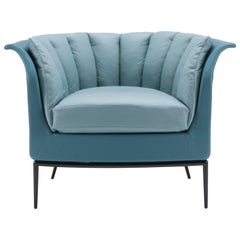 Buttercup Armchair in Blue by Luca Scacchetti