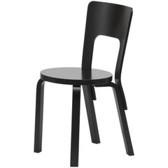 Authentic Chair 66 in Birch with Black Lacquer by Alvar Aalto & Artek