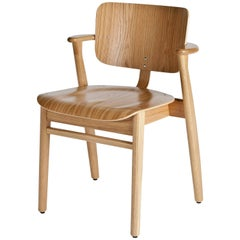 Authentic Domus Chair in Natural Lacquered Oak by Ilmari Tapiovaara & Artek