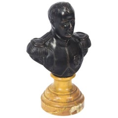 Antique Bronze Bust Napoleon Bonaparte, 19th Century