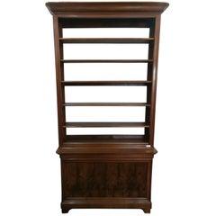 19th Century Italian Light Brown Walnut Bookcase