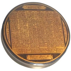 Laquered Papier Mâché Snuff Box, Calendar 1811, Names of All Saints Per Day