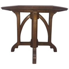 Exceptional Gothic Revival Octagonal Oak Centre Table Attributed to AWN Pugin