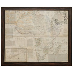 Rare Engraved Map of Africa by Samuel Boulton, 1800