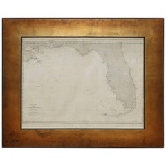Very Rare Marine Map of Florida, France, 1864