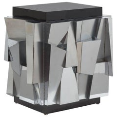 Superb Paul Evans Designed Chrome Cabinet, 1970
