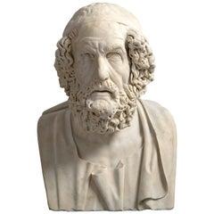 Bust of Homer, Italian, 18th Century