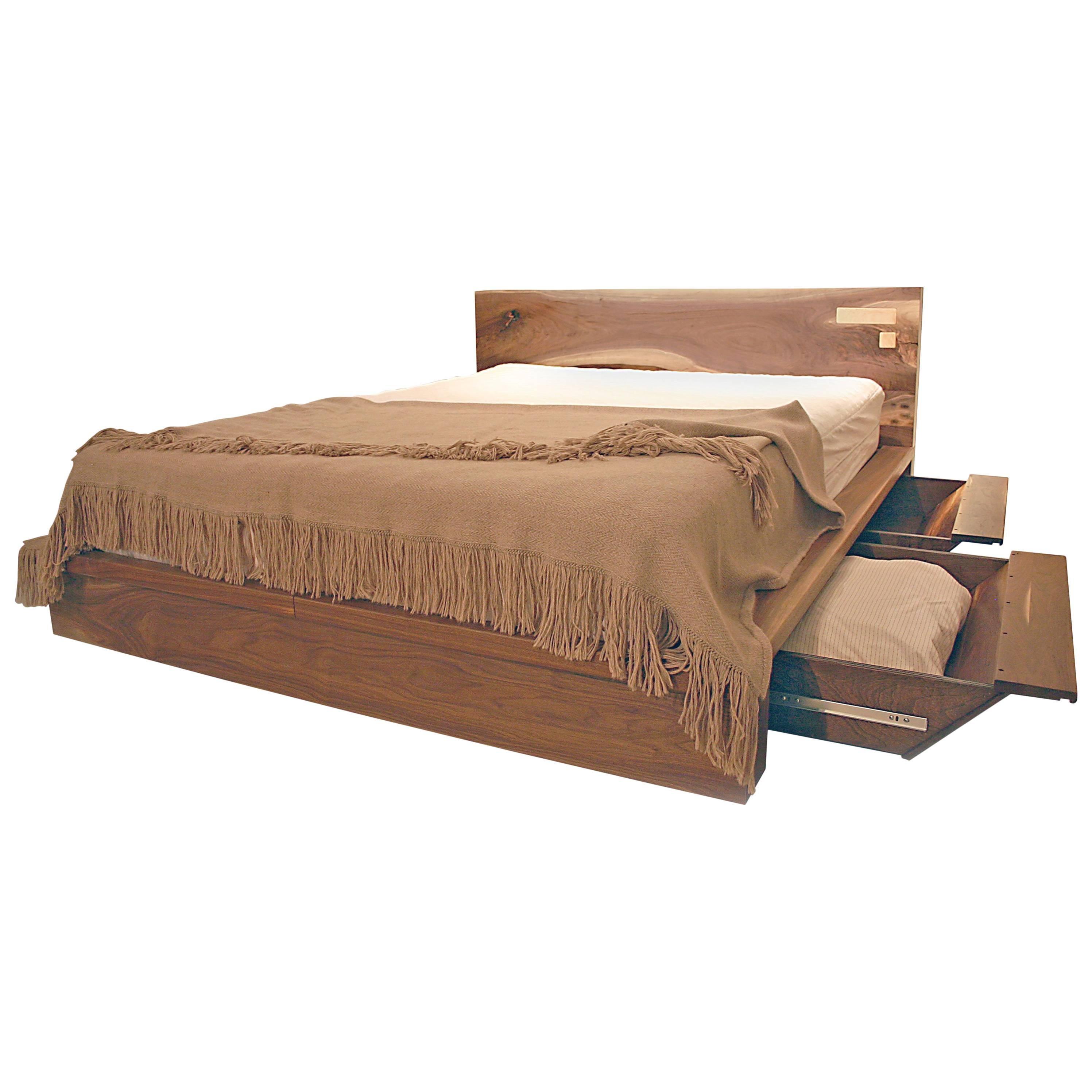 Shimna Liffey Platform Bed With Hidden Storage Drawers Queen Size