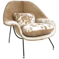 Vintage Eero Saarinen Womb Chair Restored in Brazilian Cowhide