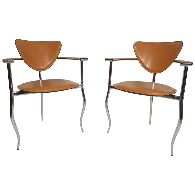 Pair of Midcentury Italian Chairs by Arrben
