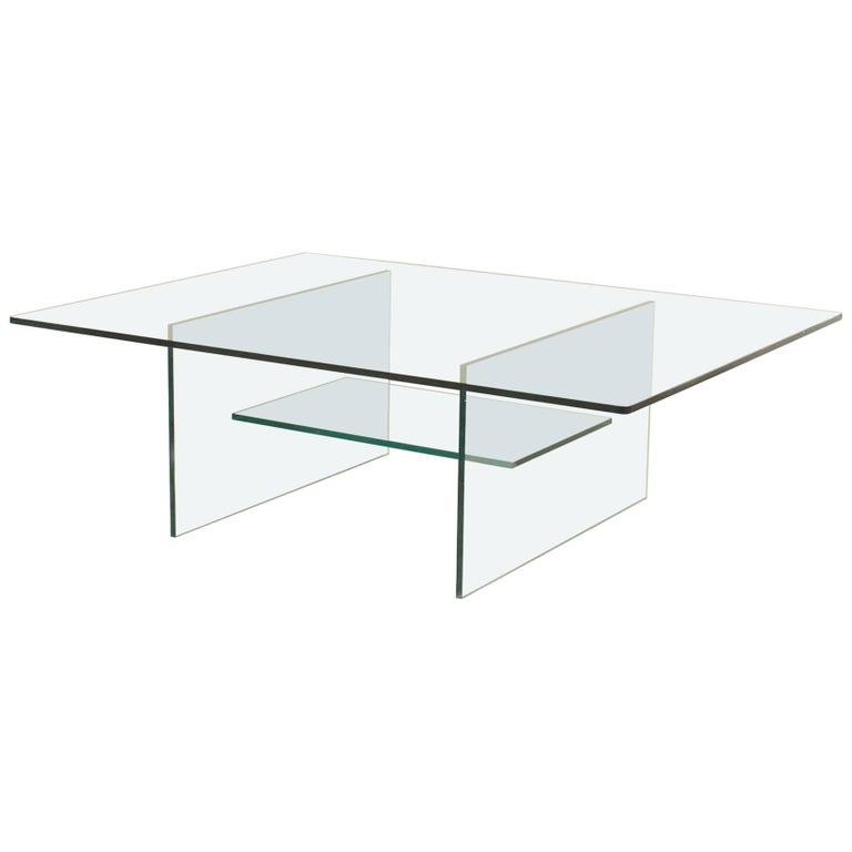 American Midcentury Glass Coffee Table