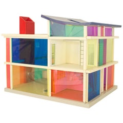 American Midcentury Plastic Multicolored Scale Architectural Model of a Home