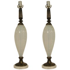 Pair of 1950s Murano Lamps