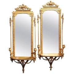 Pair of Louis XVI Style Gilt Wall Sconces