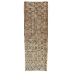 Distressed Vintage Turkish Sivas Rug with Shabby Chic Rustic Farmhouse Style