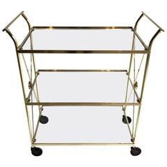 Three-Tier Brass Bar Cart