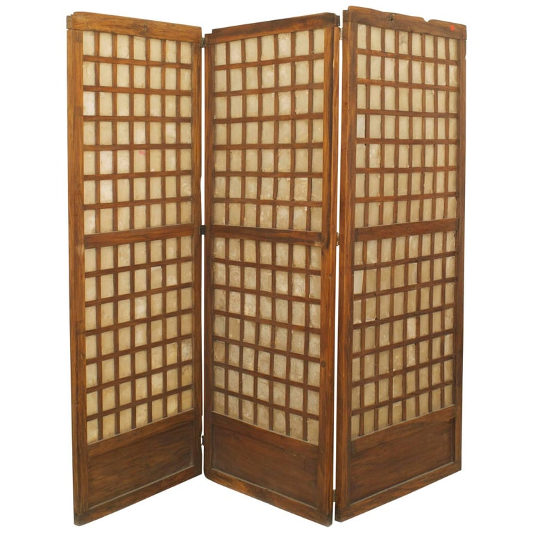 Italian Midcentury Three-Panel Screen