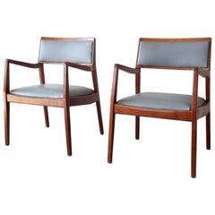 """Jens Risom """"Playboy"""" Club Chairs, Pair"""