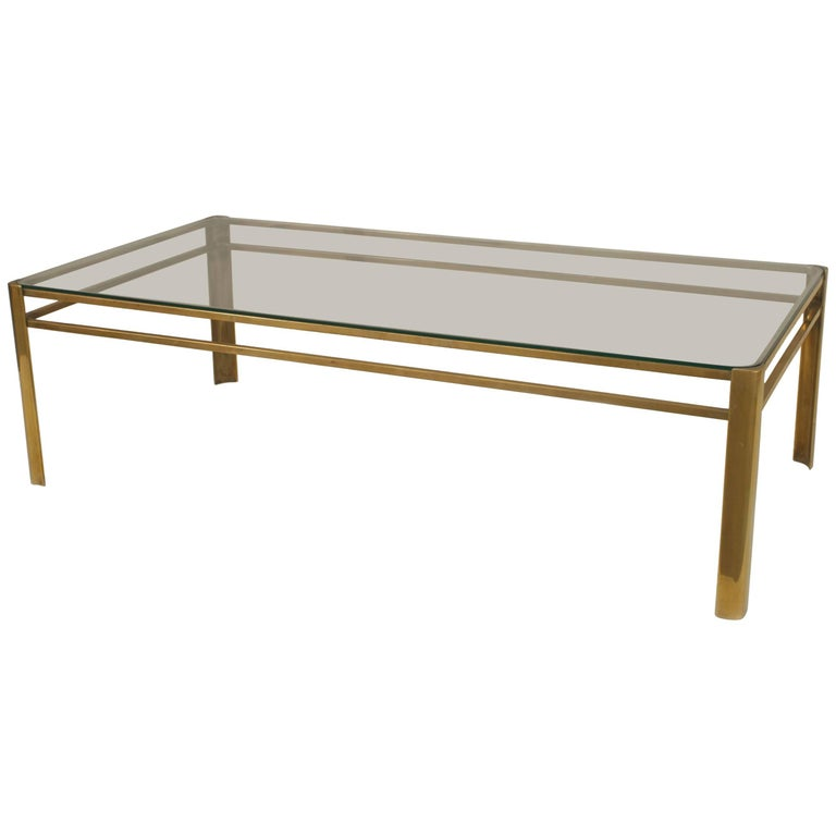 French 1950s Bronze Coffee Table For Sale
