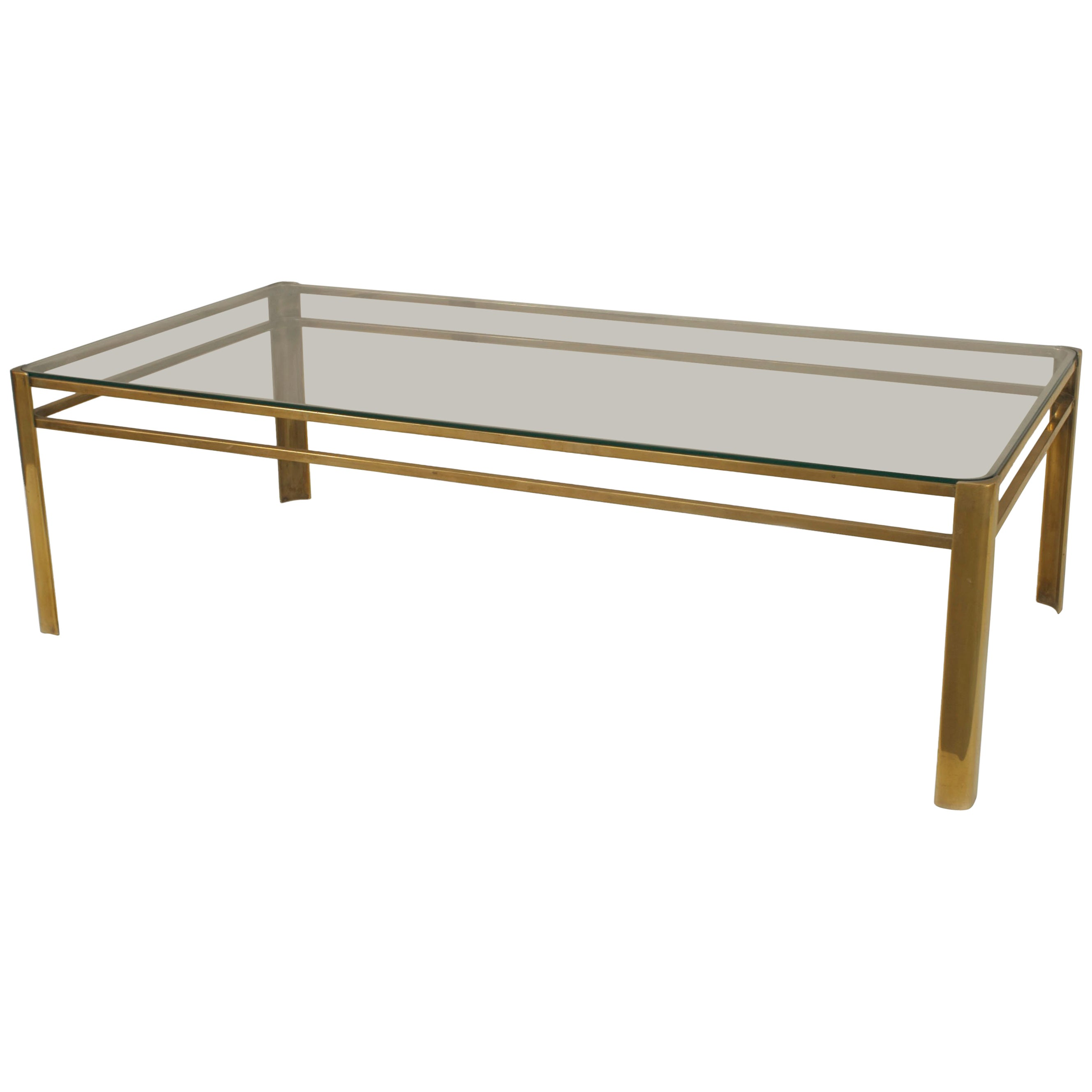 French 1950s Bronze Coffee Table