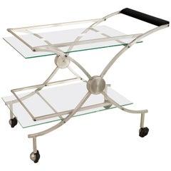 American Art Moderne 1930s-1940s Aluminum Bar Cart