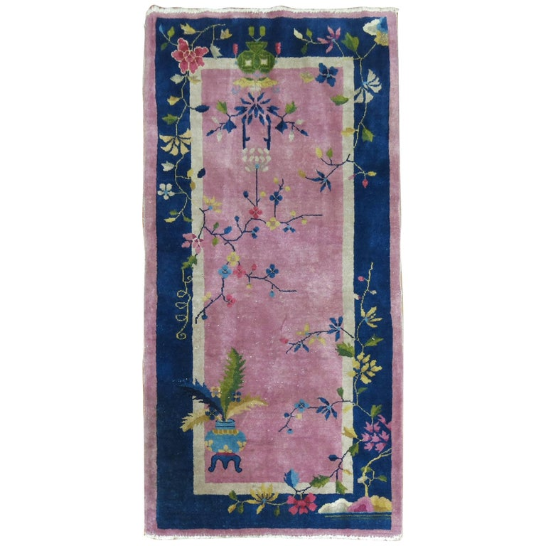 Chinese Art Deco Pink Field Rug