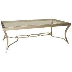 Art Modern Style 'Modern' Silver Patina Bronze Coffee Table