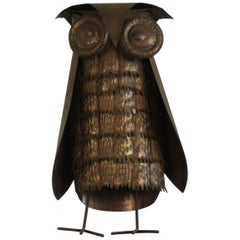 1960s Copper Owl Sculpture