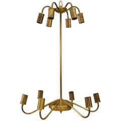 Italian '1950s' Brass Chandelier