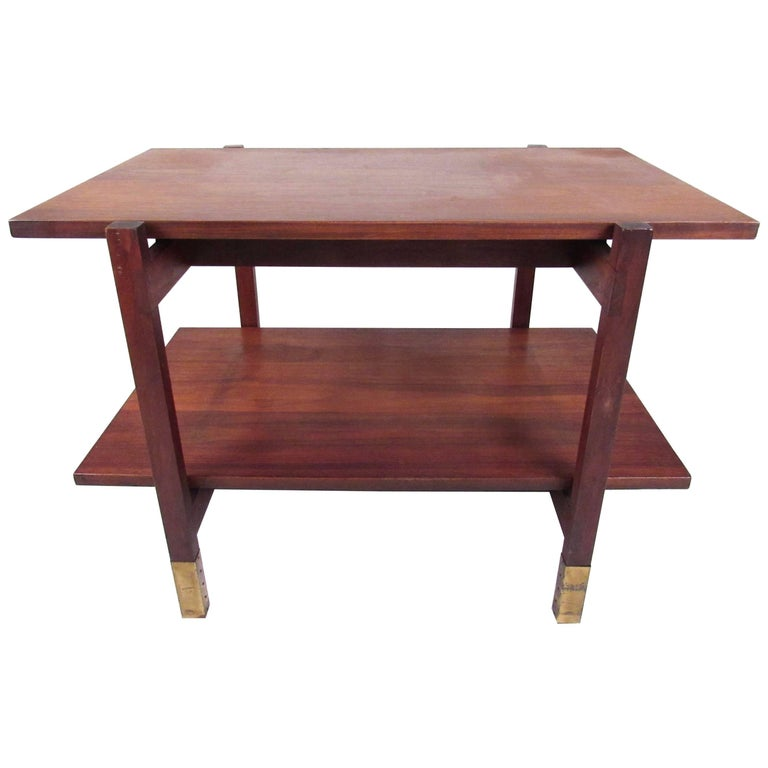 Midcentury Two-Tier End Table