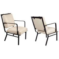 Pair of Armchairs Attributed to Jacques Adnet, France, circa 1950