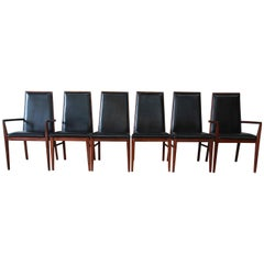 Dillingham Mid-Century Modern Dining Chairs, Set of Six
