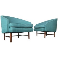 Newly Upholstered Danish Modern Lounge Chairs