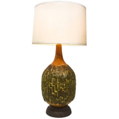 Vintage Oversized Brutalist Ceramic Table Lamp, 1970s