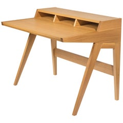 Phloem Studio Laura Desk, Handmade Modern Secretary Desk in Walnut or White Oak