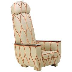 Decorative Modern Tall Back Armchair