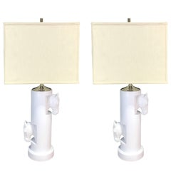 Pair of Gucci Blanc de Chine Equestrian Lamps