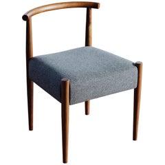 Phloem Studio Harbor Chair, Handmade Modern Side Chair with Wood and Upholstery