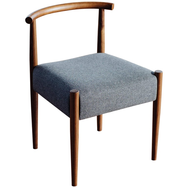 Phloem Studio Harbor Chair, Handmade Modern Side Chair with Wood and Upholstery For Sale