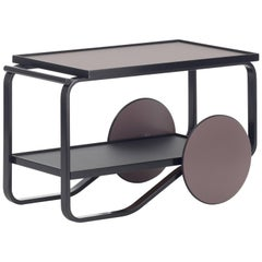 Authentic Tea Trolley 901 in Birch Black by Alvar Aalto, Hella Jongerius & Artek