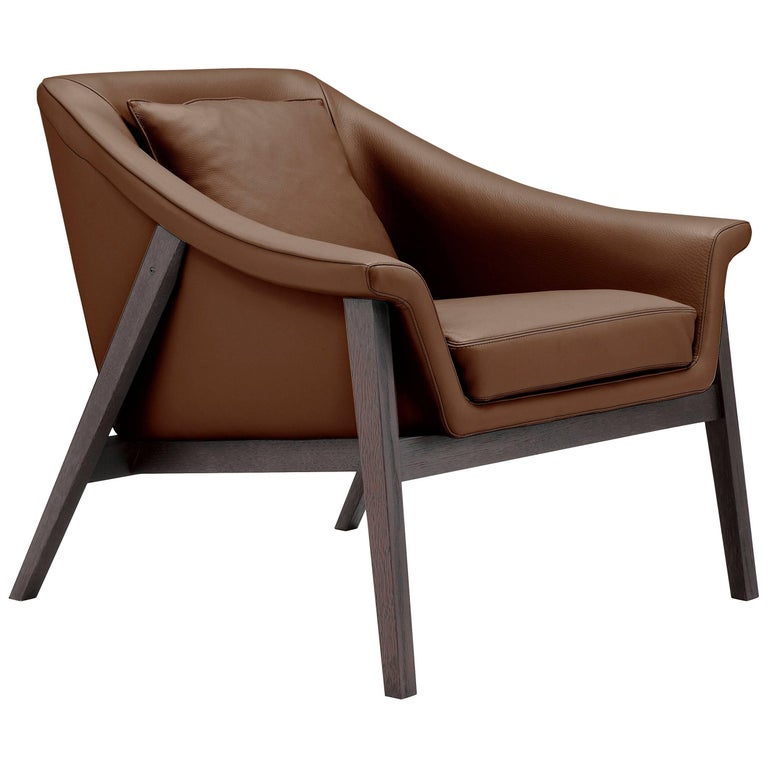 Gaia Armchair in Brown by Maurizio Marconato & Terry Zappa