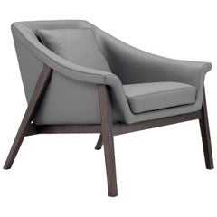 Gaia Armchair in Gray by Maurizio Marconato and Terry Zappa