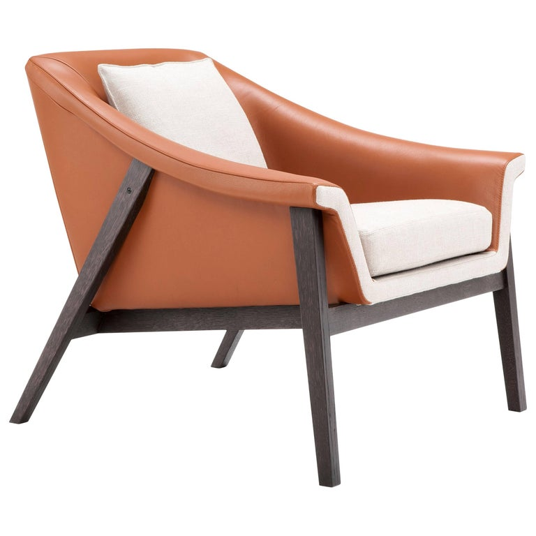 Gaia Armchair in Orange and White by Maurizio Marconato & Terry Zappa