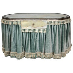 Vanity Dressing Table with Velvet Skirt