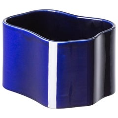 Authentic Small Riihitie Plant Pot B in Blue by Aino Aalto & Artek